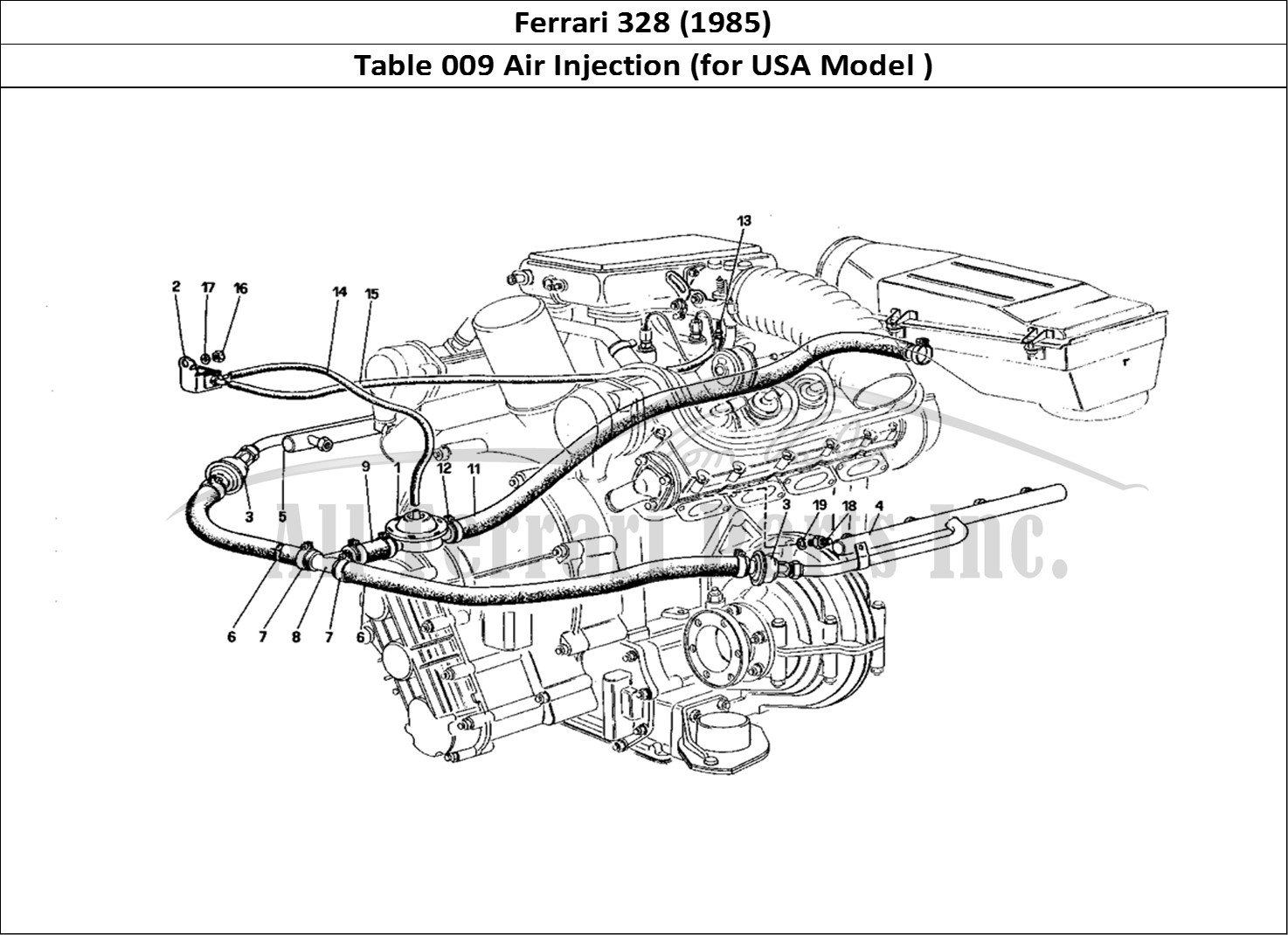 Buy original Ferrari 328 (1985) 009 Air Injection (for USA