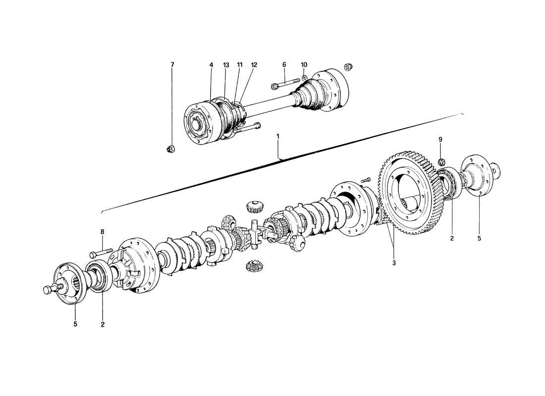Buy original Ferrari 328 (1985) 030 Differential, Axle