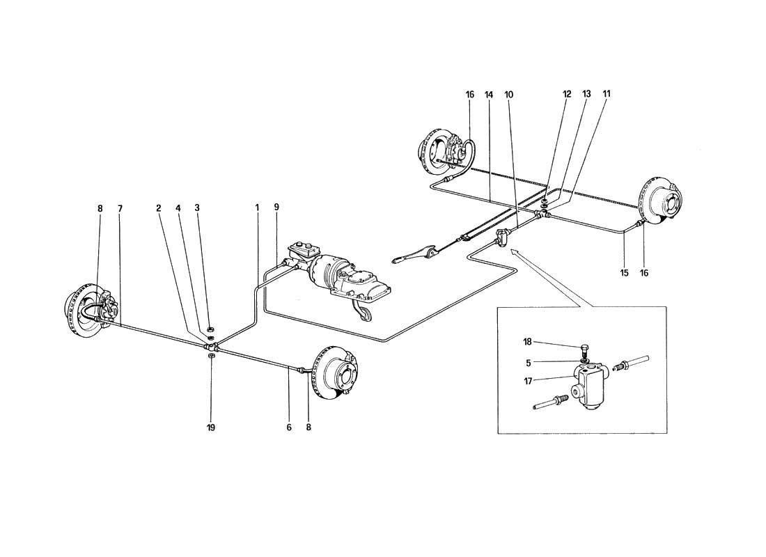 Buy original Ferrari 328 (1985) 032 Brake System Ferrari