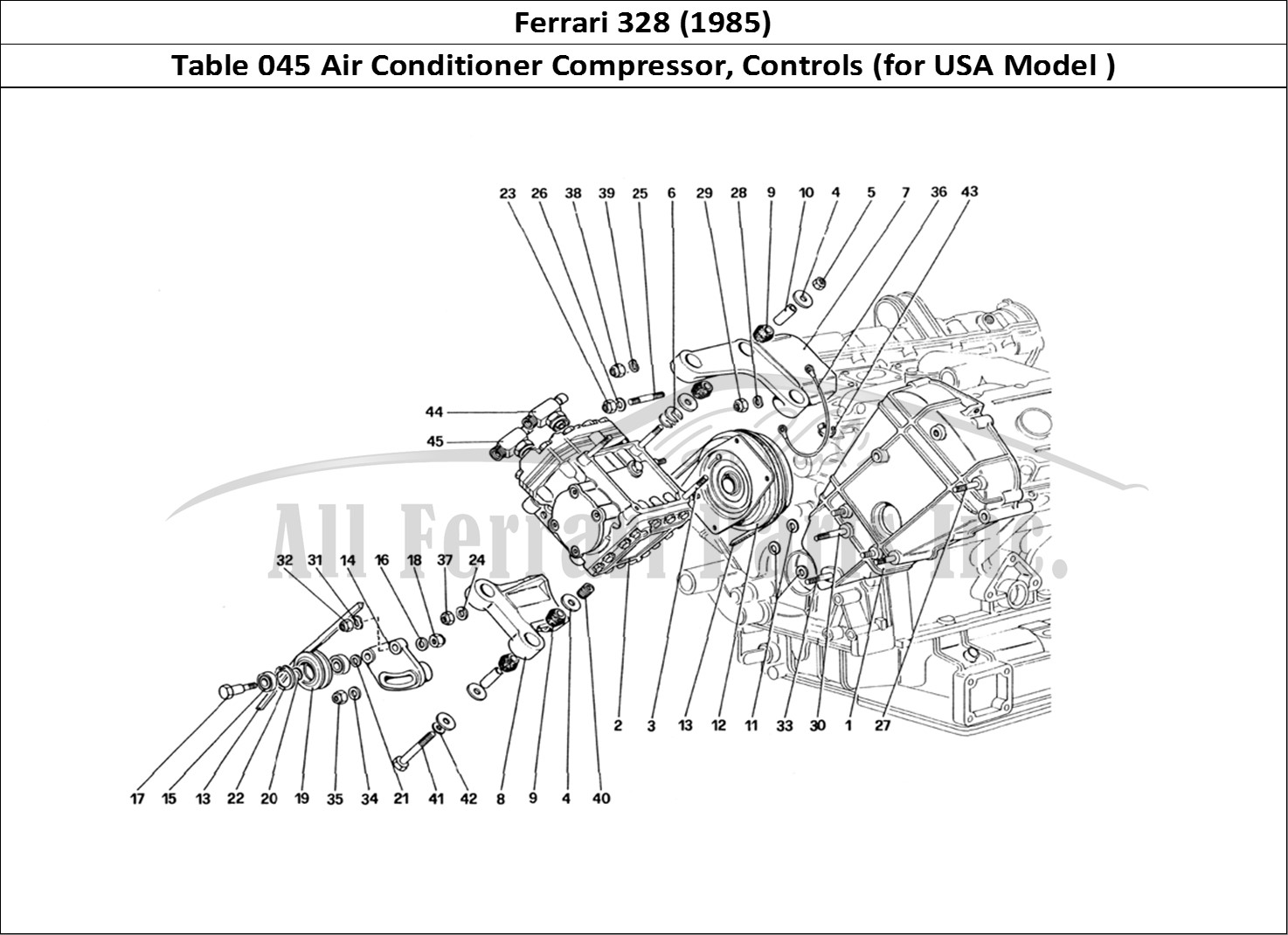 Buy original Ferrari 328 (1985) 045 Air Conditioner