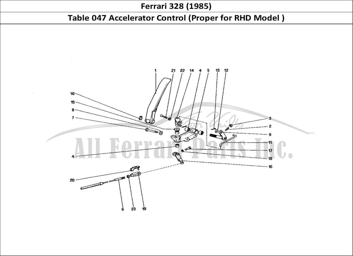 Buy original Ferrari 328 (1985) 047 Accelerator Control