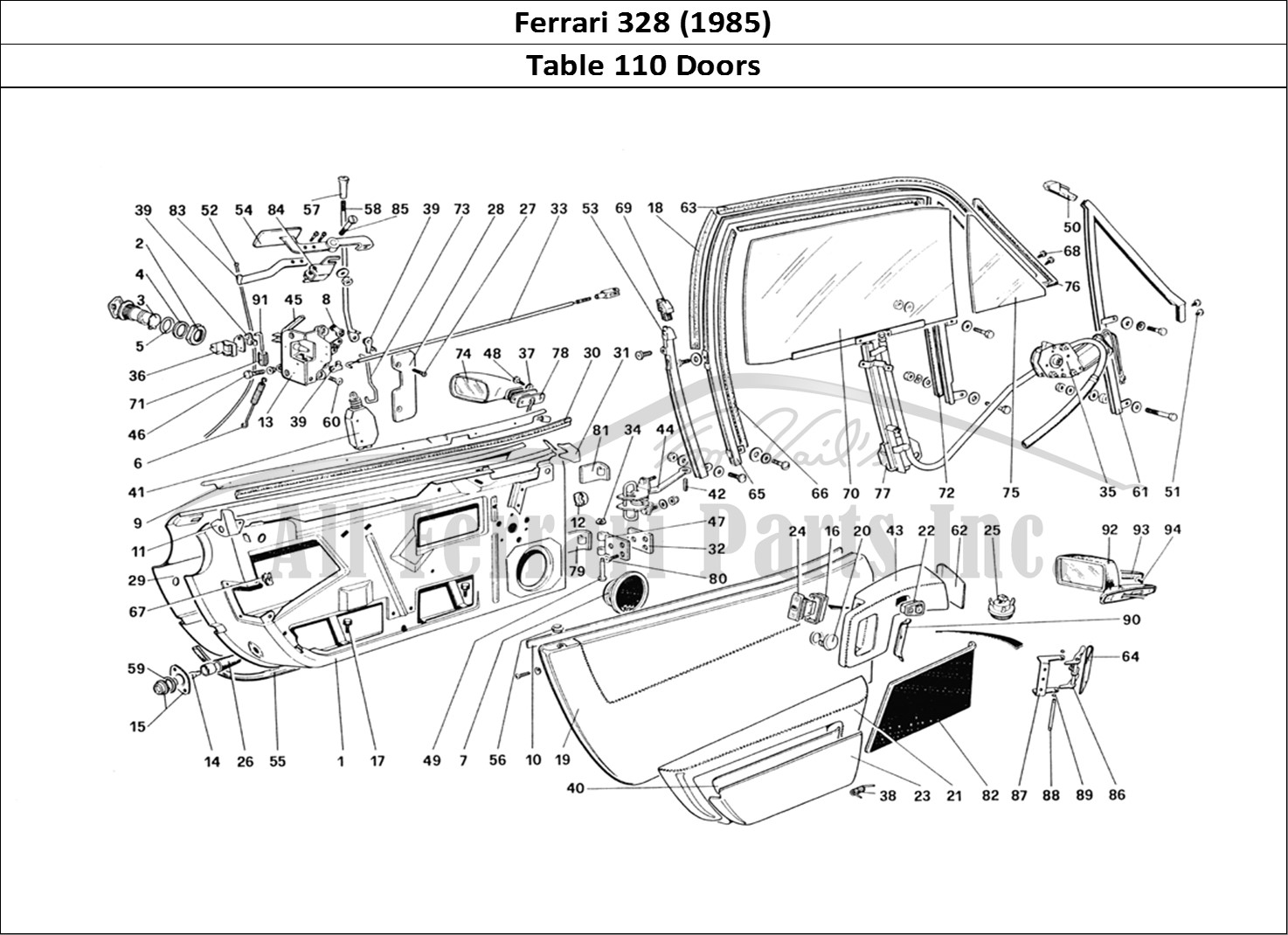 Buy original Ferrari 328 (1985) 110 Doors Ferrari parts
