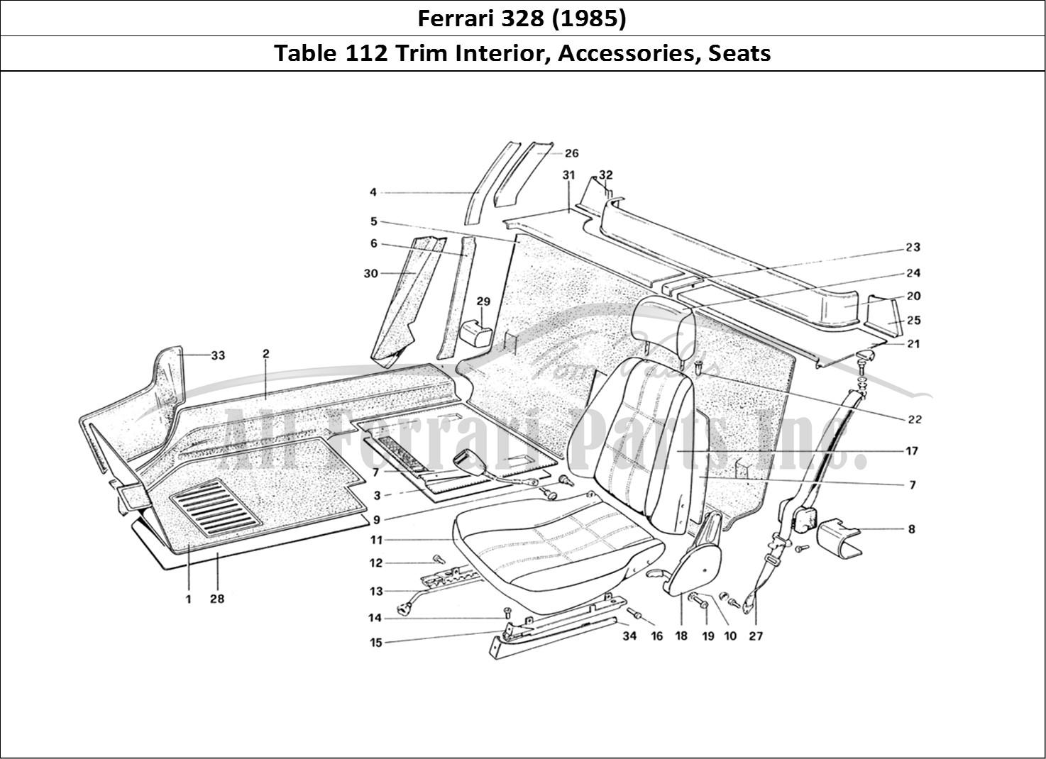 Buy original Ferrari 328 (1985) 112 Trim Interior