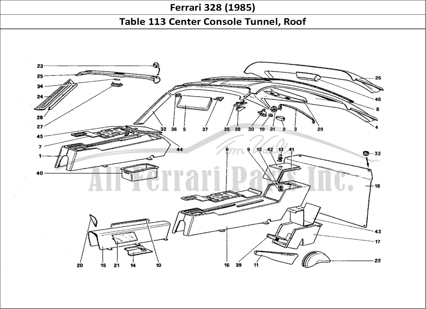 Buy original Ferrari 328 (1985) 113 Center Console Tunnel