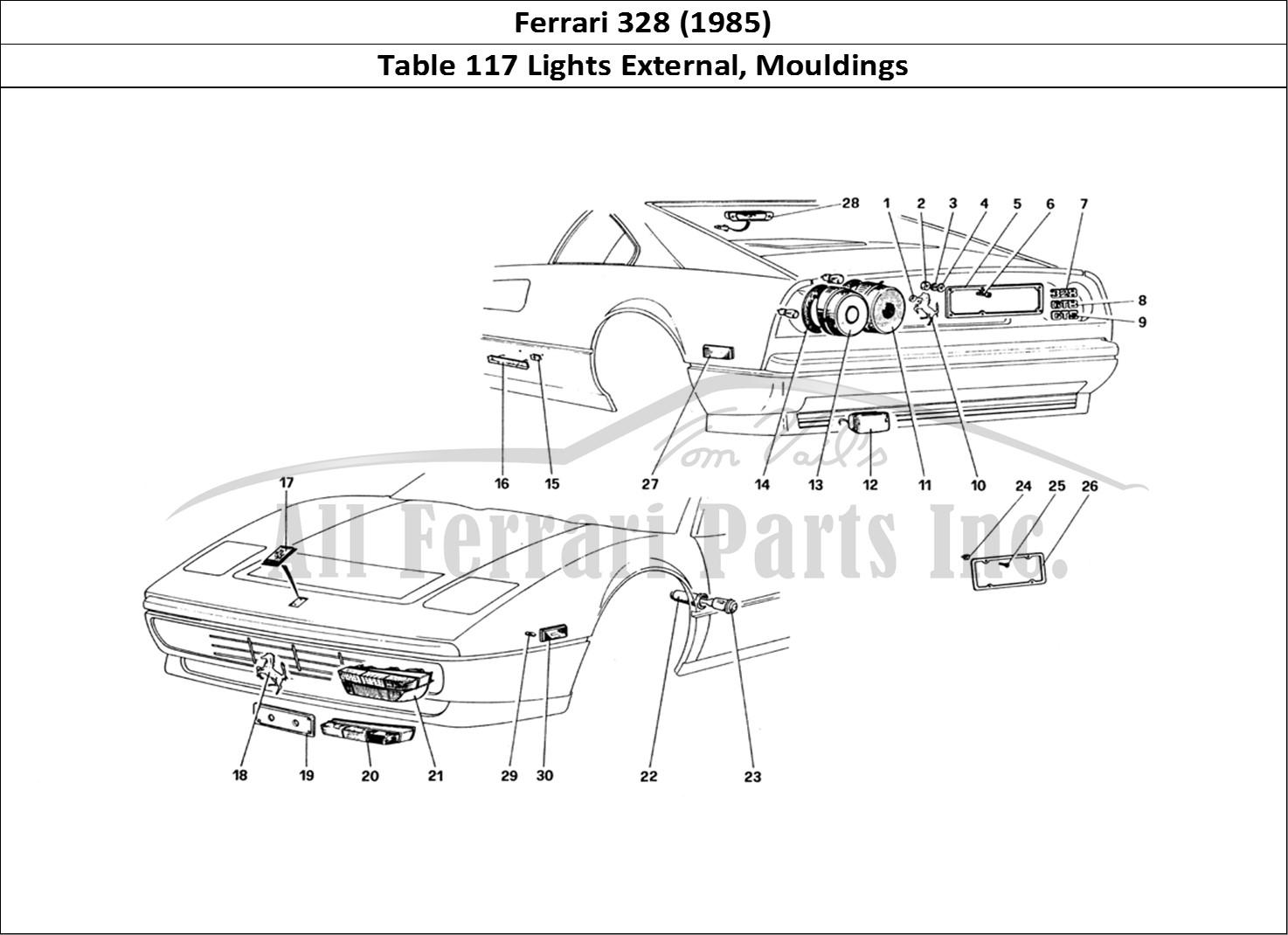 Buy original Ferrari 328 (1985) 117 Lights External