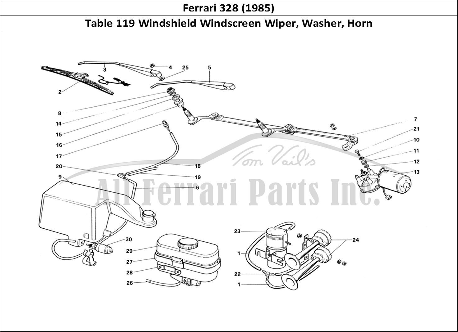 Buy original Ferrari 328 (1985) 119 Windshield Windscreen