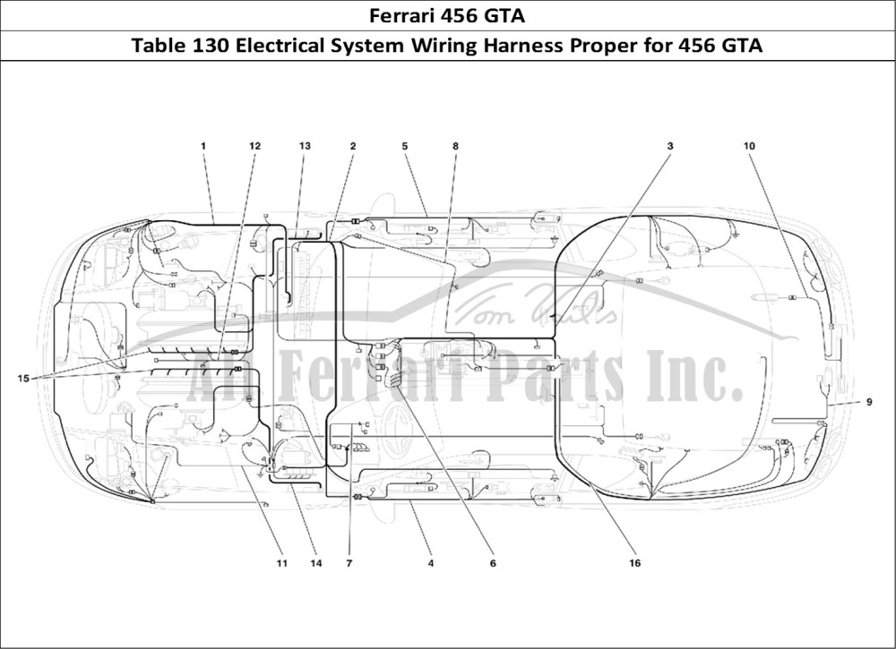 medium resolution of buy original ferrari 456 gta 130 electrical system wiring harness ferrari 456 wagon ferrari 456 wiring diagram