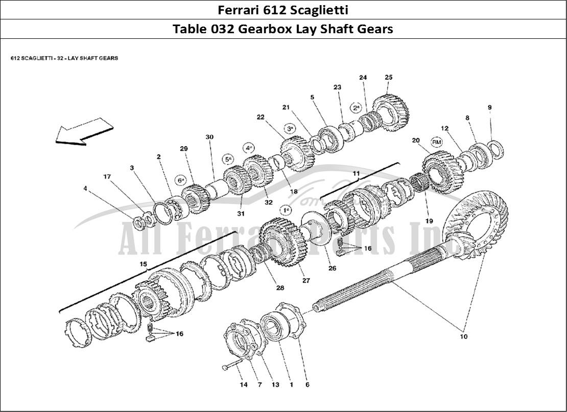 Buy original Ferrari 612 Scaglietti 032 Gearbox Lay Shaft