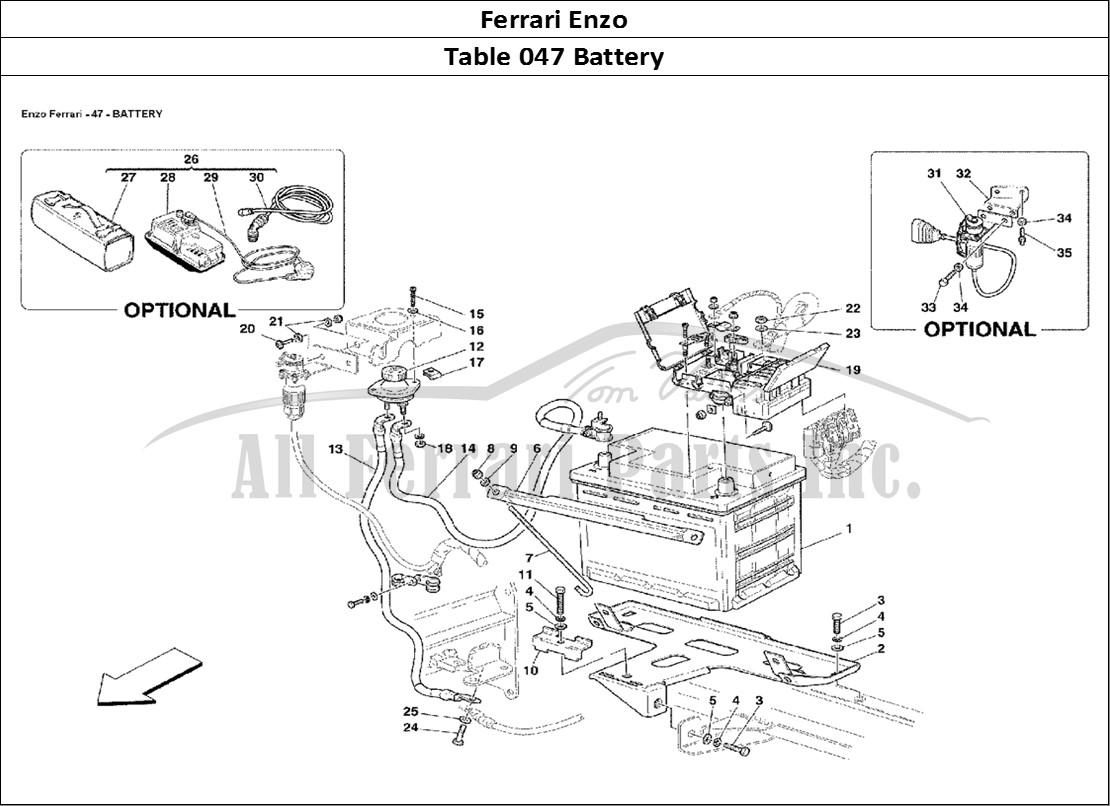 Buy original Ferrari Enzo 047 Battery Ferrari parts