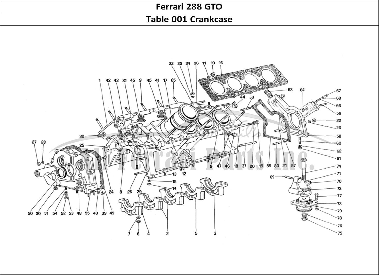 Buy Original Ferrari 288 Gto 001 Crankcase Ferrari Parts Spares Accessories Online