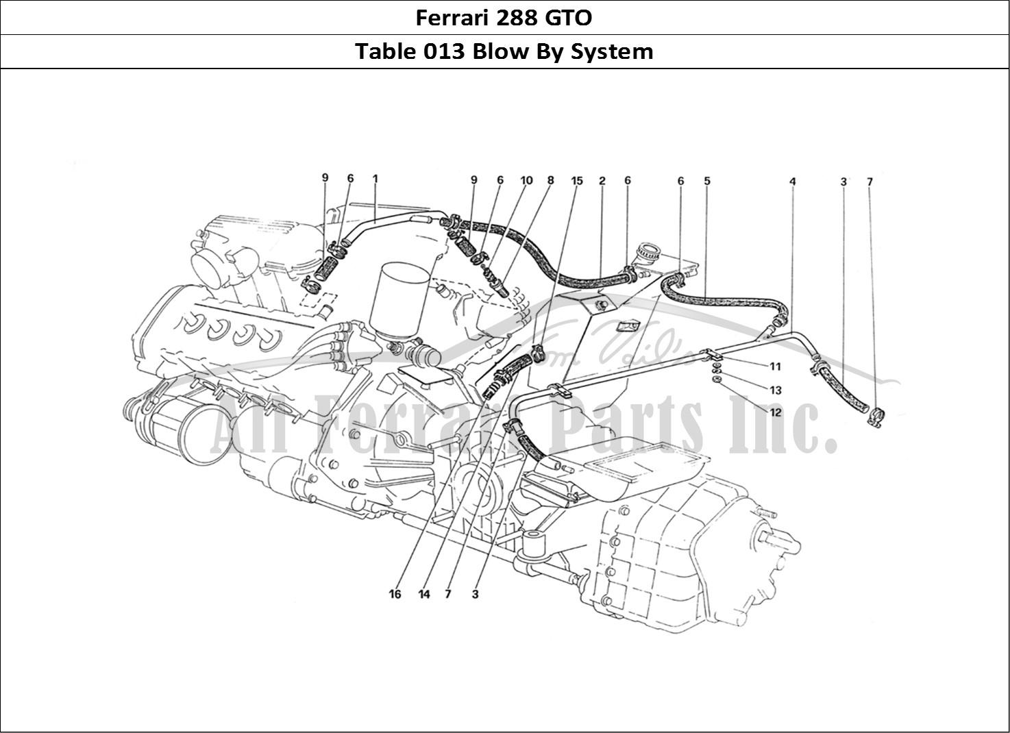 Buy original Ferrari 288 GTO 013 Blow By System Ferrari