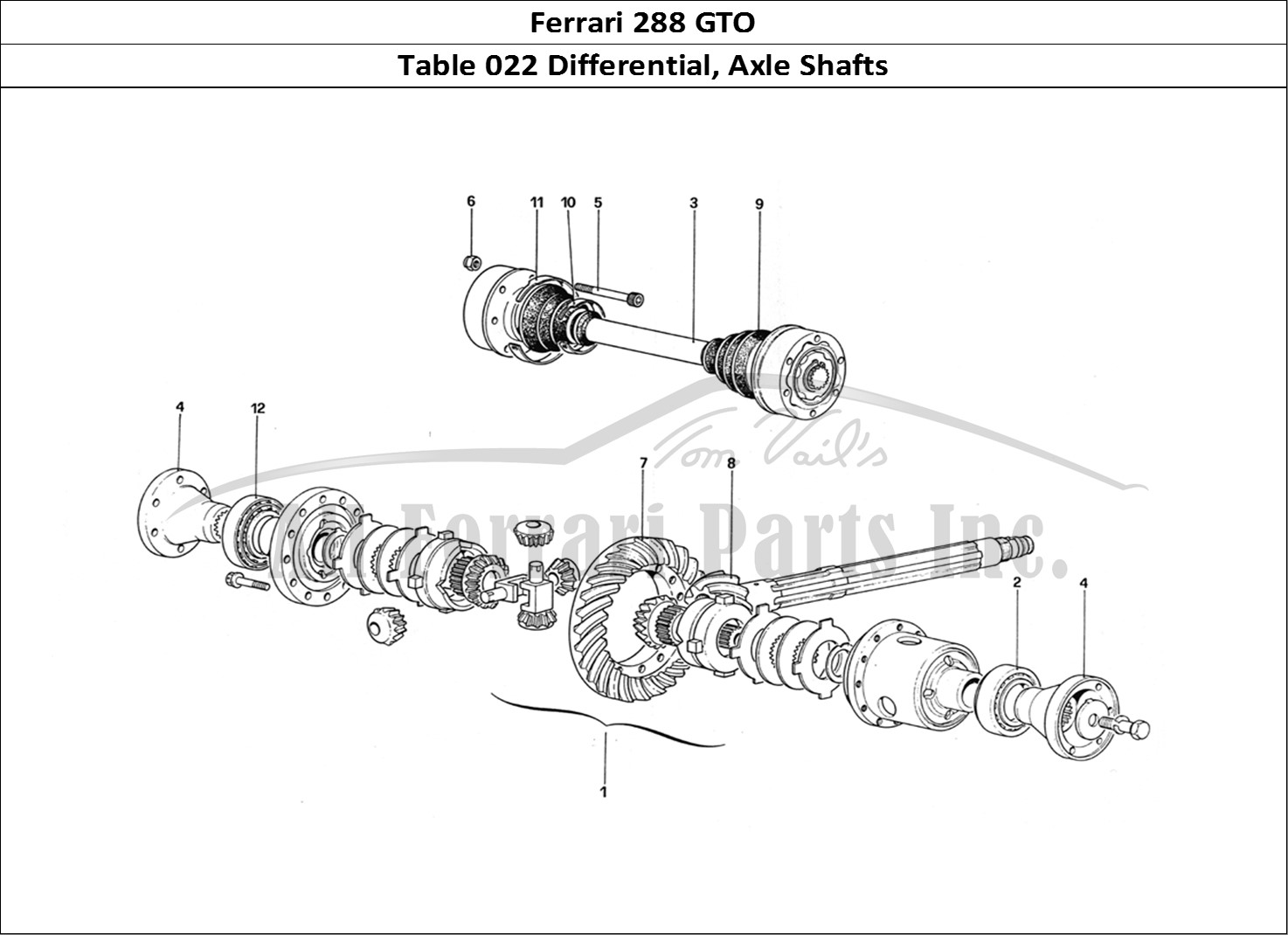 Buy original Ferrari 288 GTO 022 Differential, Axle Shafts