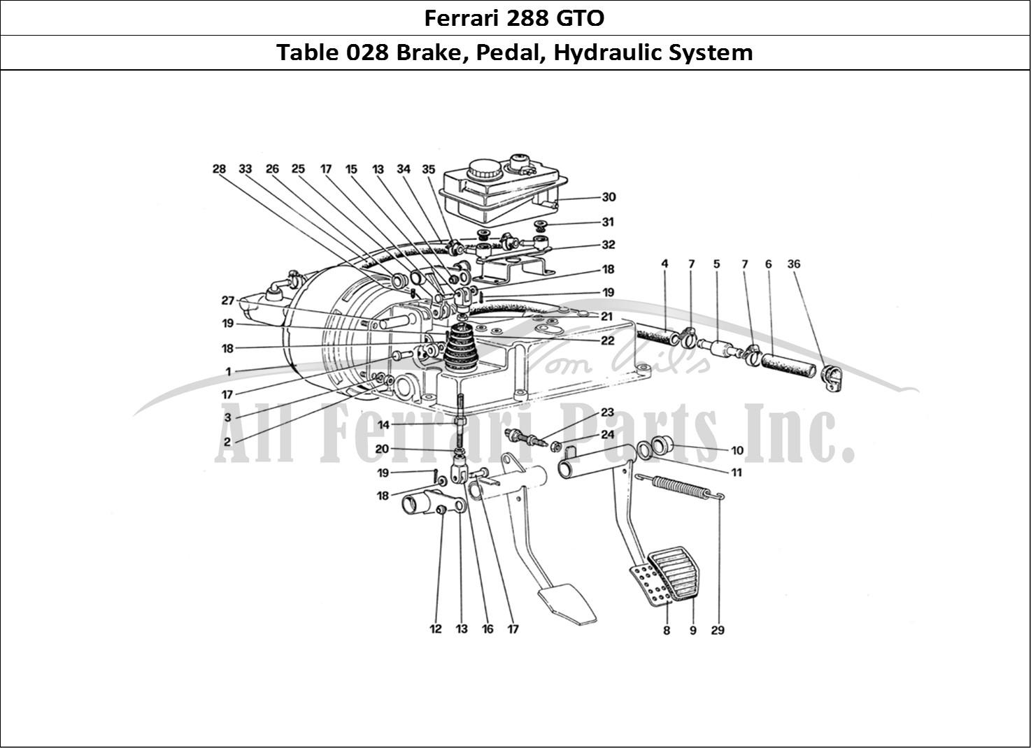 Buy original Ferrari 288 GTO 028 Brake, Pedal, Hydraulic