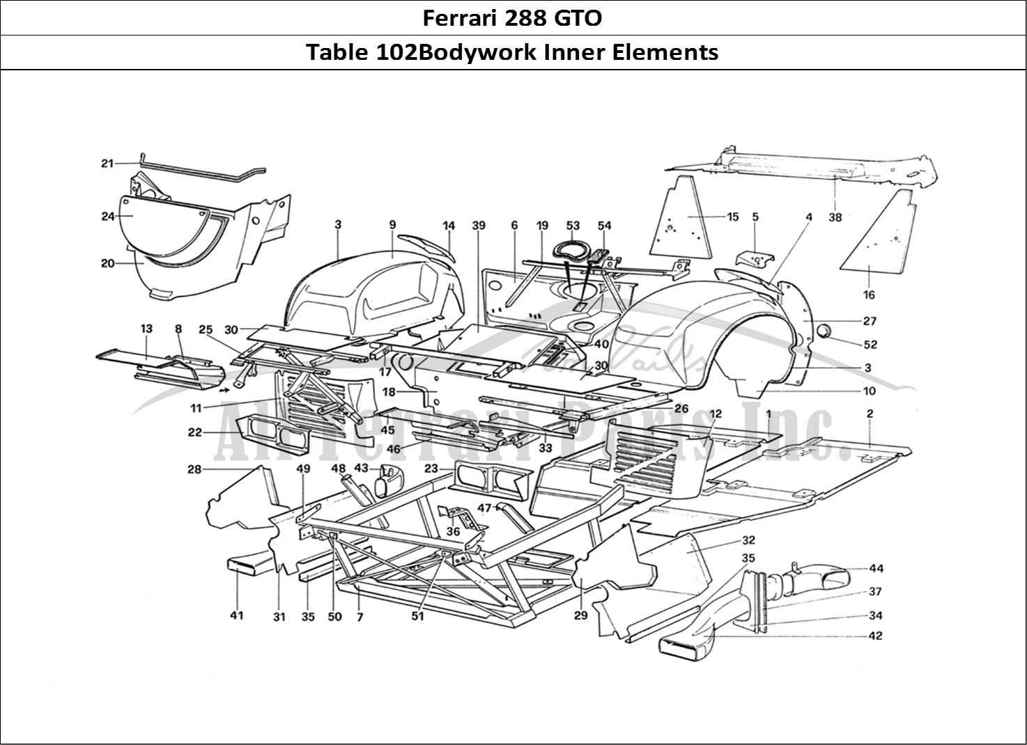 Buy original Ferrari 288 GTO 102Bodywork Inner Elements