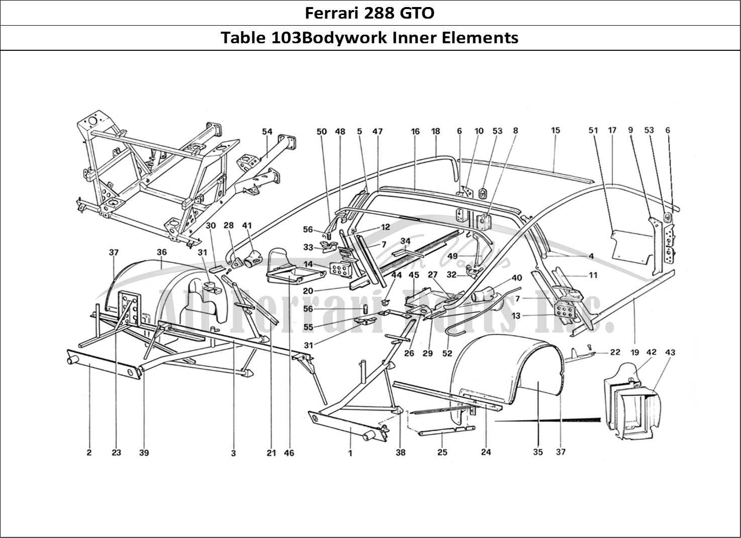 Buy original Ferrari 288 GTO 103Bodywork Inner Elements