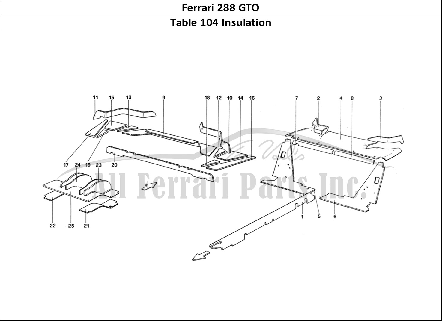 Buy Original Ferrari 288 Gto 104 Insulation Ferrari Parts