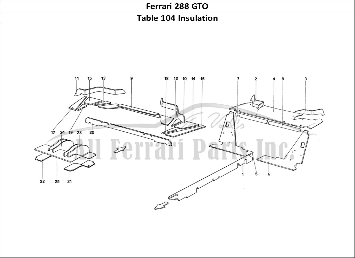house insulation diagram how to write class buy original ferrari 288 gto 104 parts