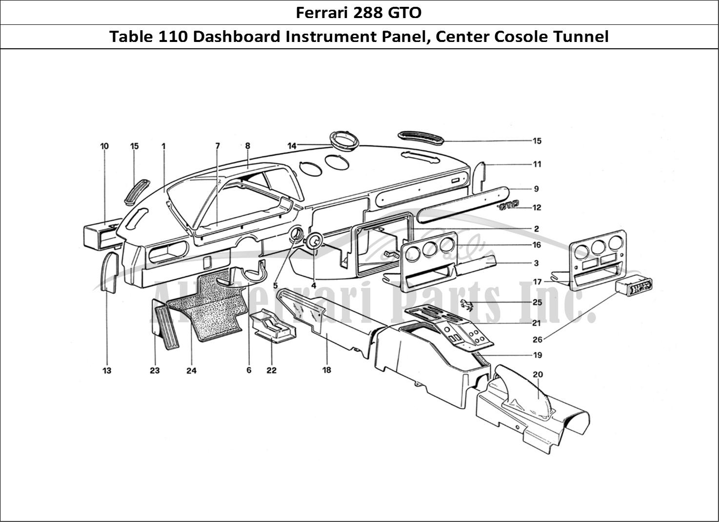 Buy Original Ferrari 288 Gto 110 Dashboard Instrument