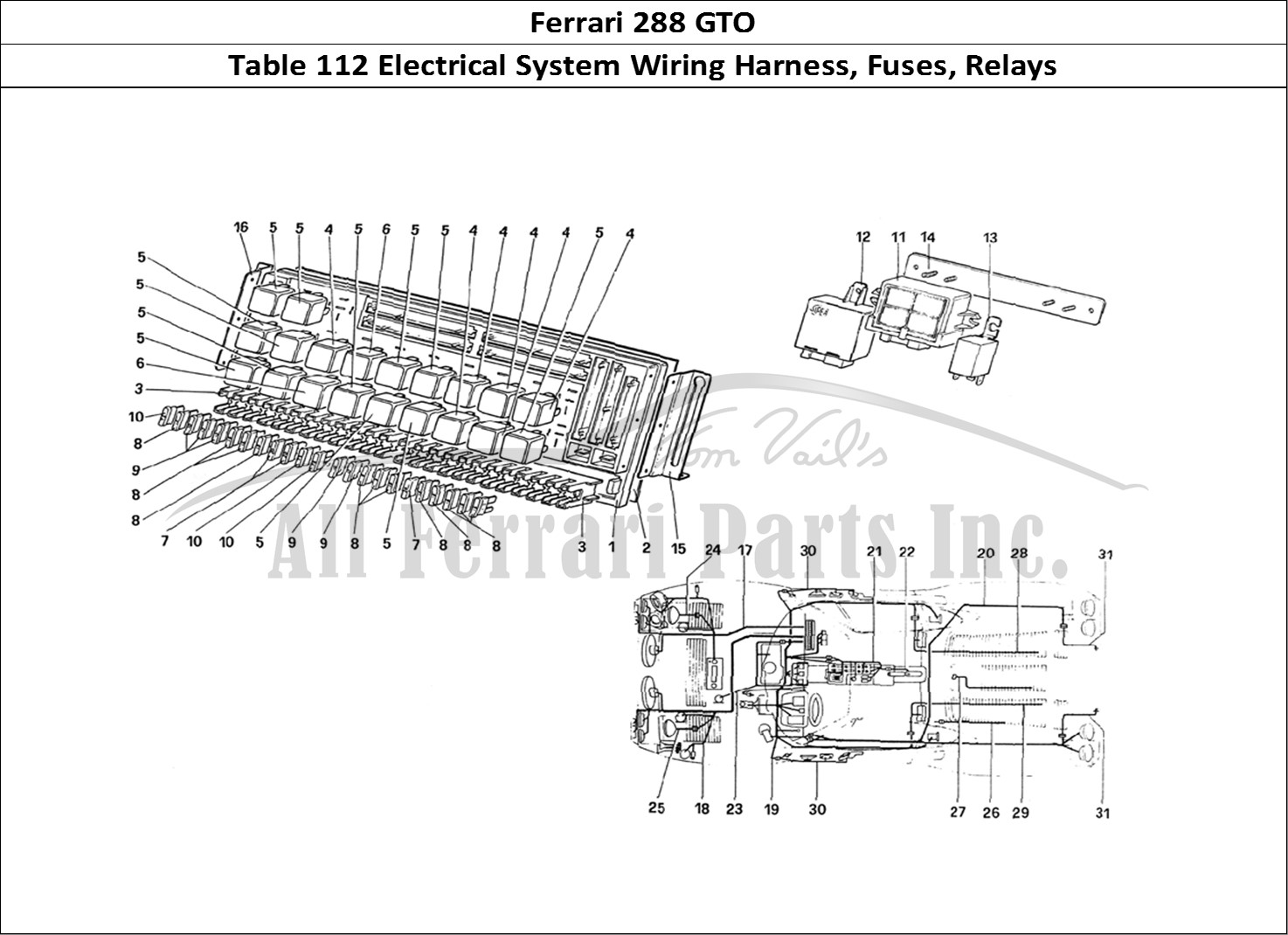 Buy original Ferrari 288 GTO 112 Electrical System Wiring