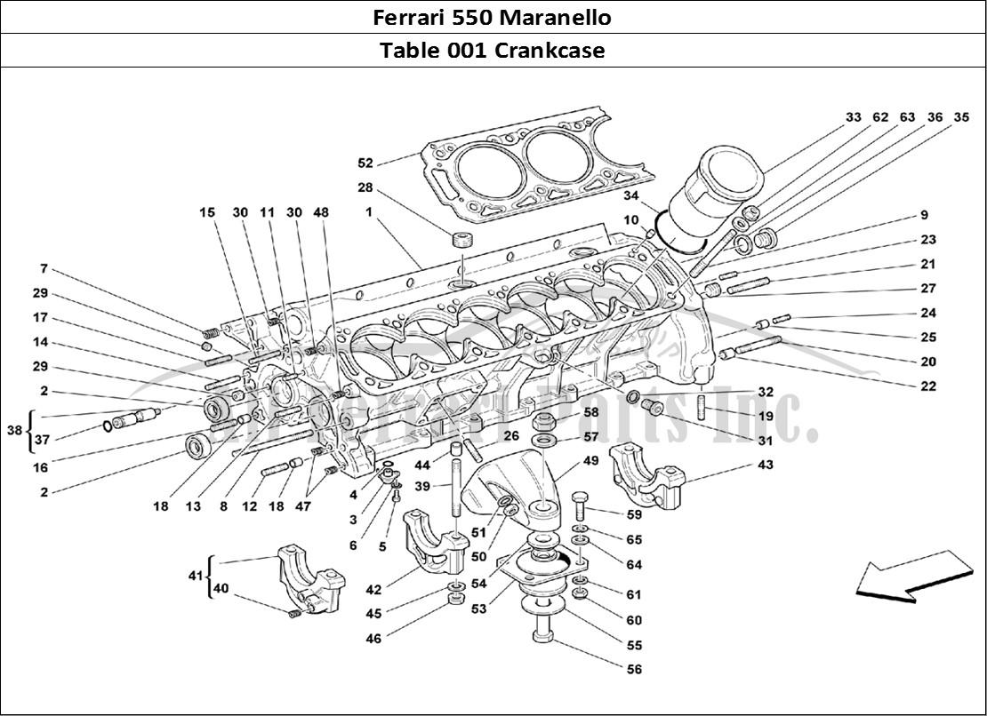 Buy original Ferrari 550 Maranello 001 Crankcase Ferrari