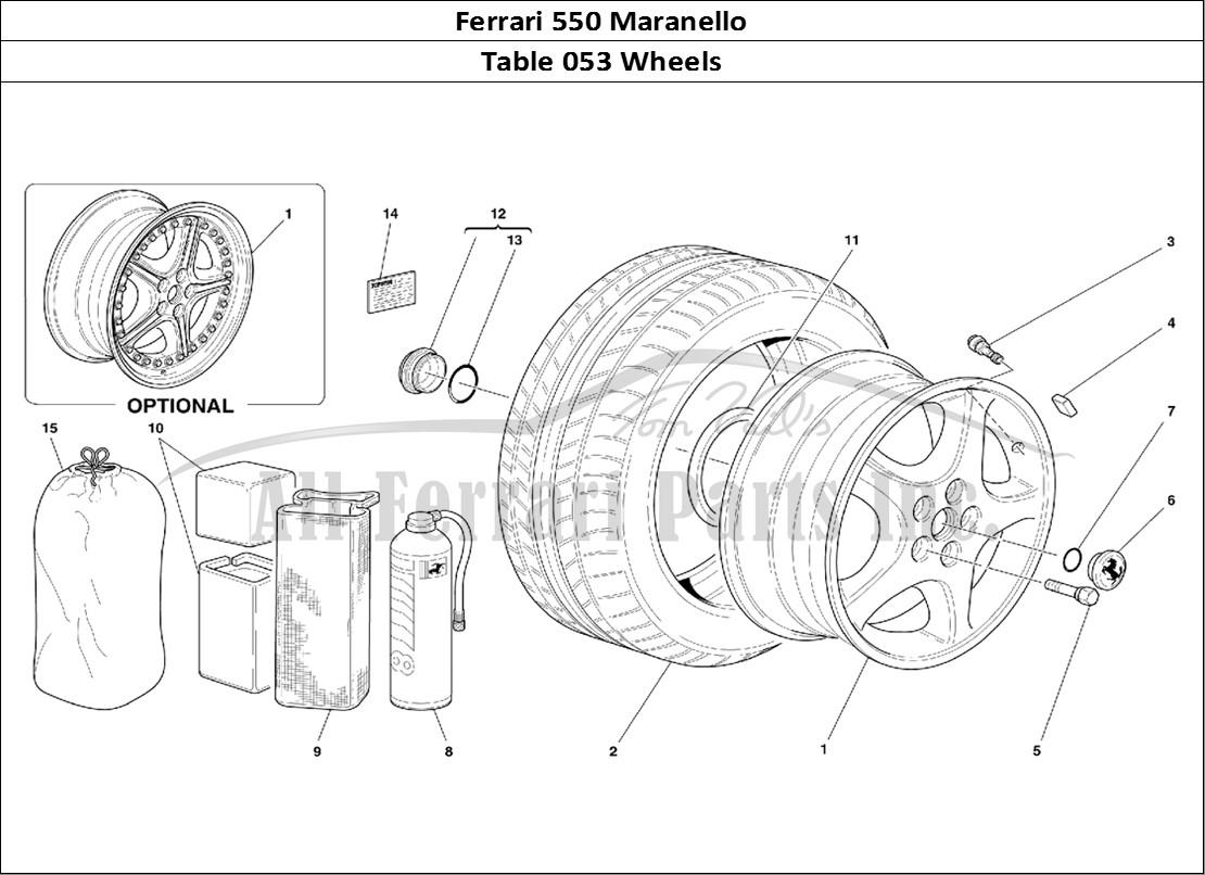 Buy original Ferrari 550 Maranello 053 Wheels Ferrari