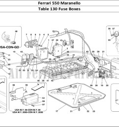 ferrari 550 maranello bodywork table 130 fuse boxes [ 1110 x 806 Pixel ]