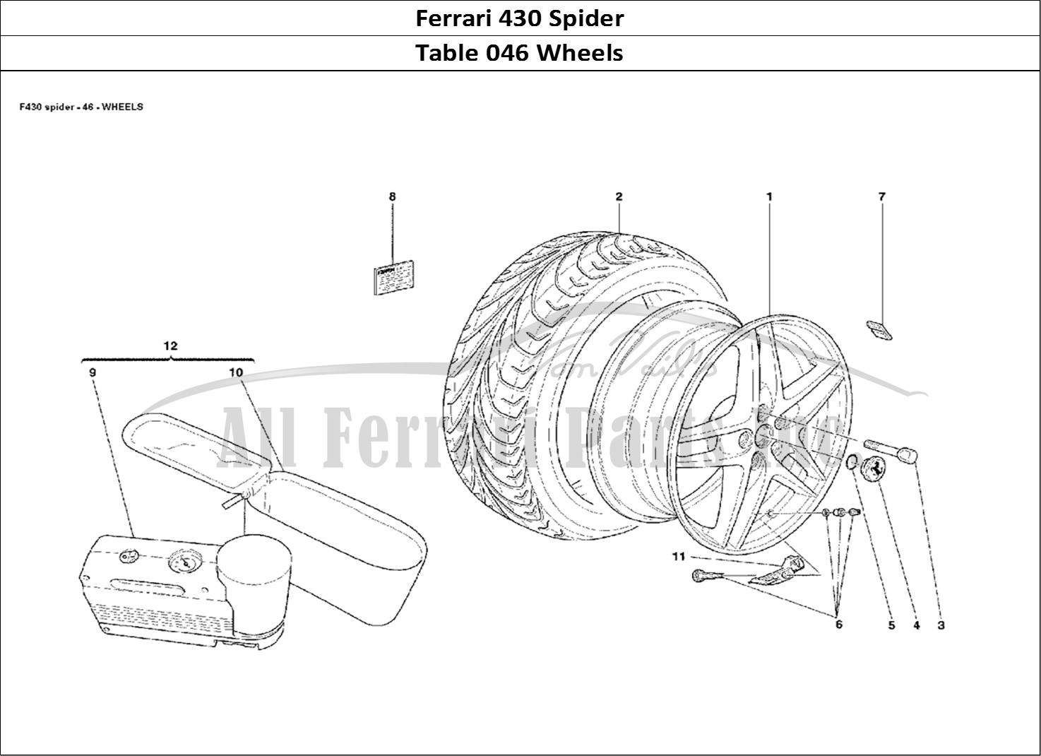 Buy original Ferrari 430 Spider 046 Wheels Ferrari parts