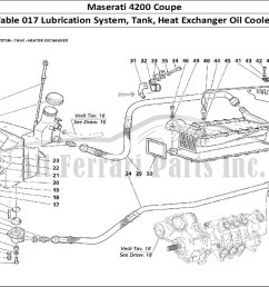 maserati 4200 coupe mechanical table 017 lubrication system tank heat exchanger oil cooler [ 1110 x 805 Pixel ]