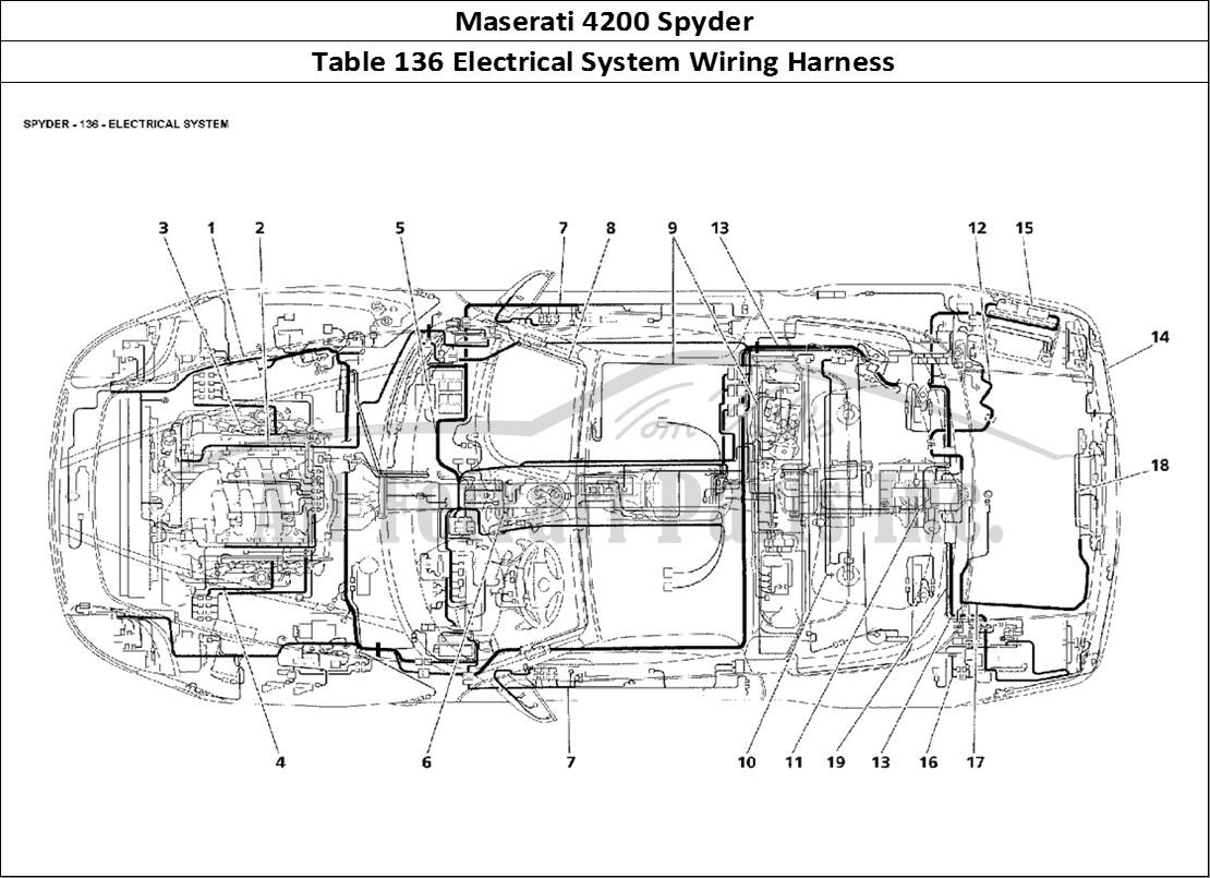 Buy original Maserati 4200 Spyder 136 Electrical System