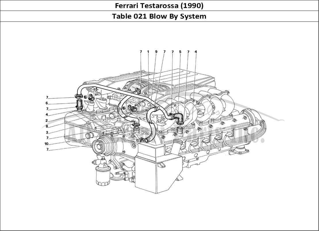 Buy original Ferrari Testarossa (1990) 021 Blow By System