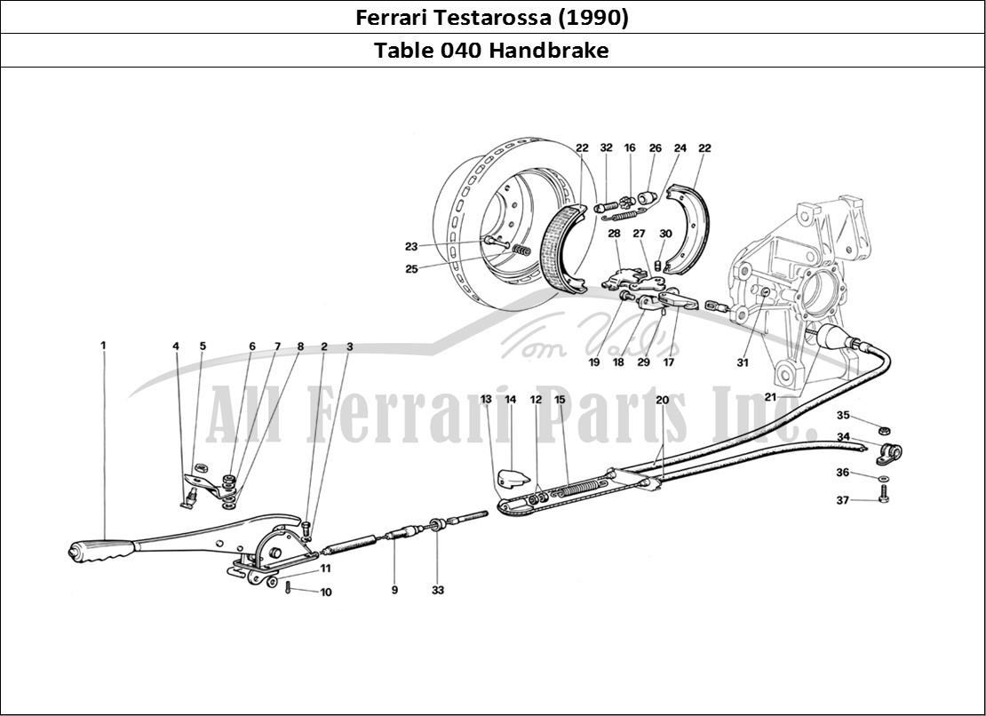 Buy original Ferrari Testarossa (1990) 040 Handbrake
