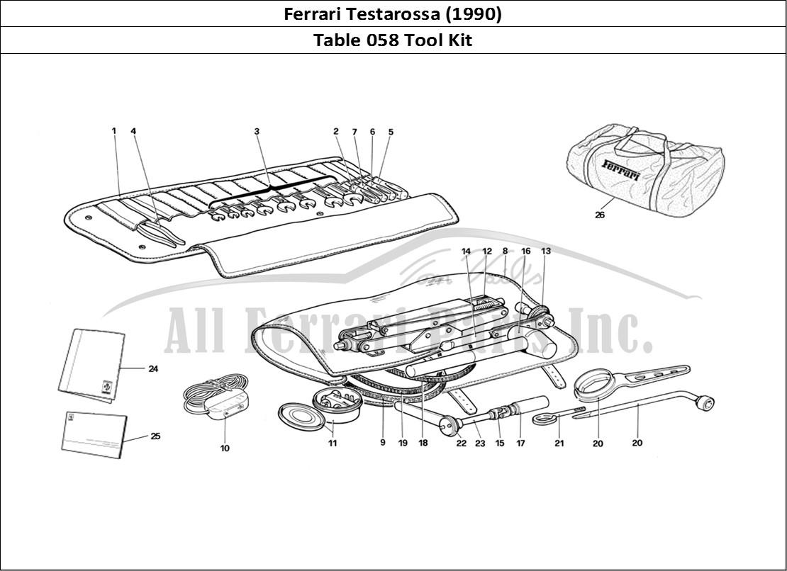 Buy original Ferrari Testarossa (1990) 058 Tool Kit