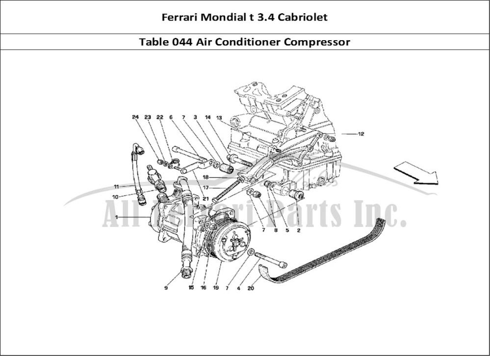medium resolution of ferrari mondial t 3 4 cabriolet mechanical table 044 air conditioner compressor