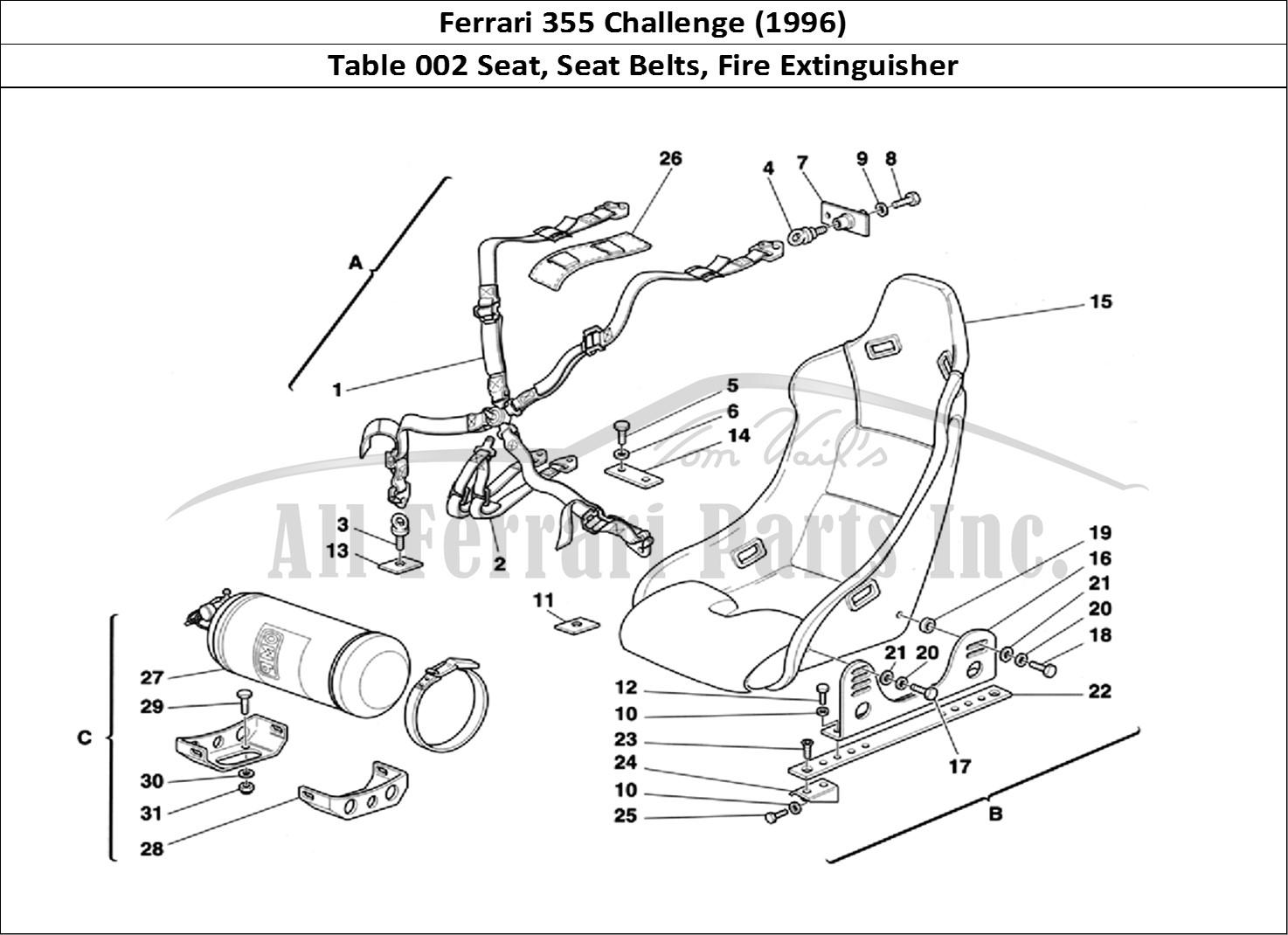 Buy Original Ferrari 355 Challenge 002 Seat Seat