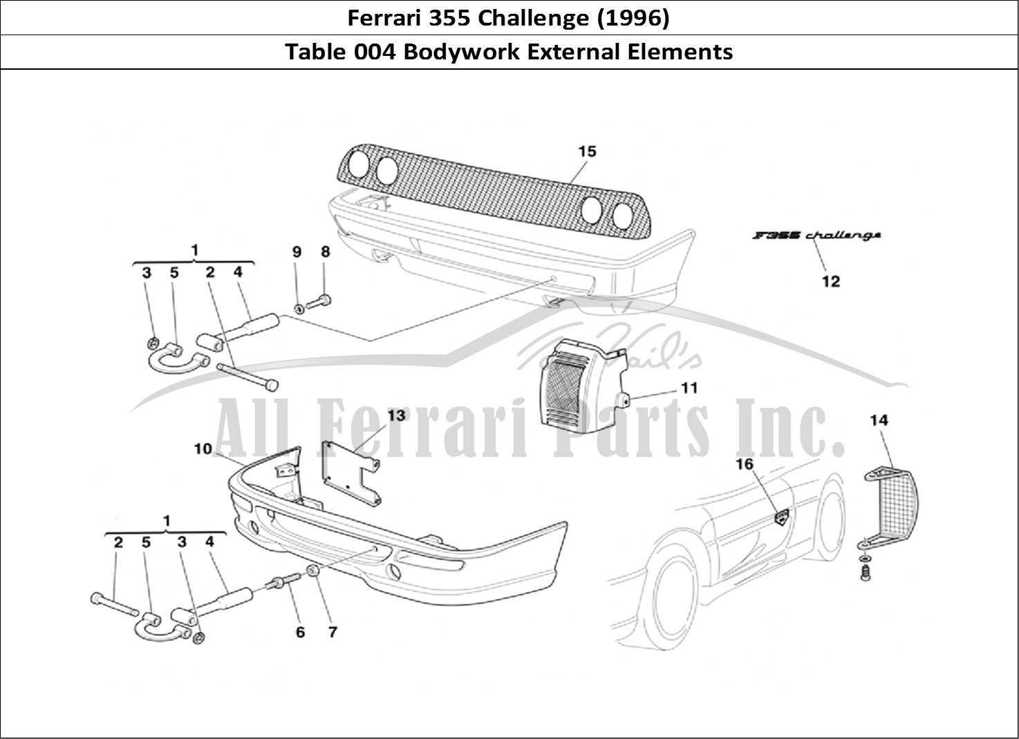Buy original Ferrari 355 Challenge (1996) 004 Bodywork