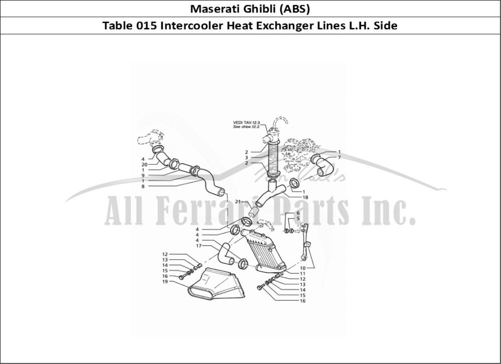 medium resolution of maserati ghibli abs mechanical table 015 intercooler heat exchanger lines l h side