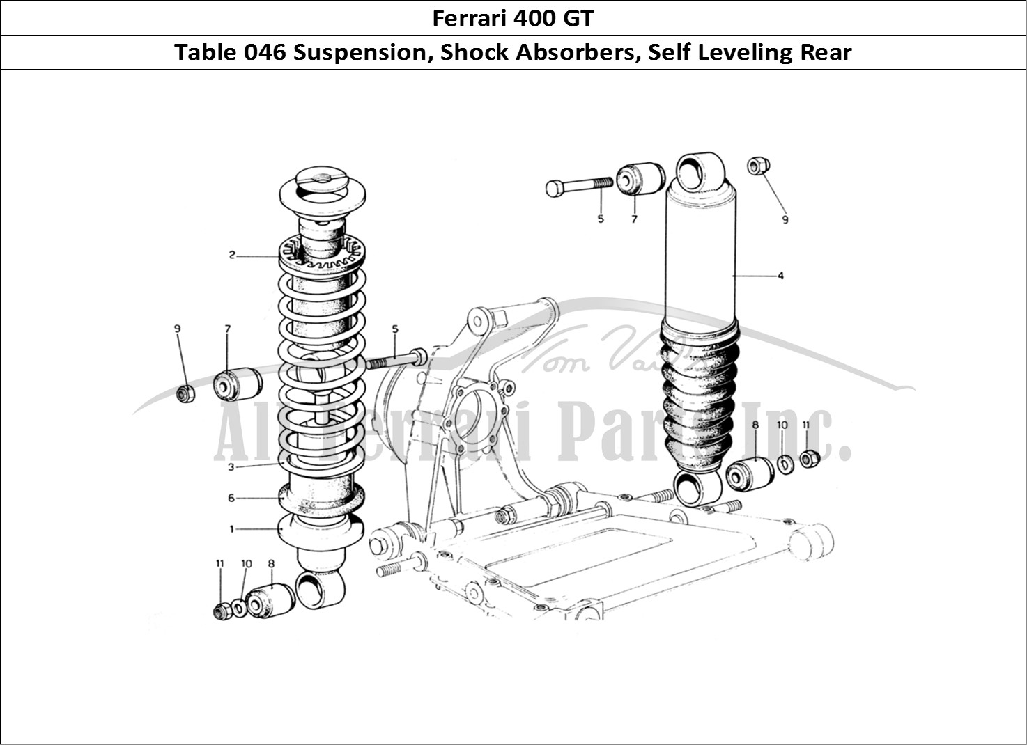 Buy original Ferrari 400 GT 046 Suspension, Shock