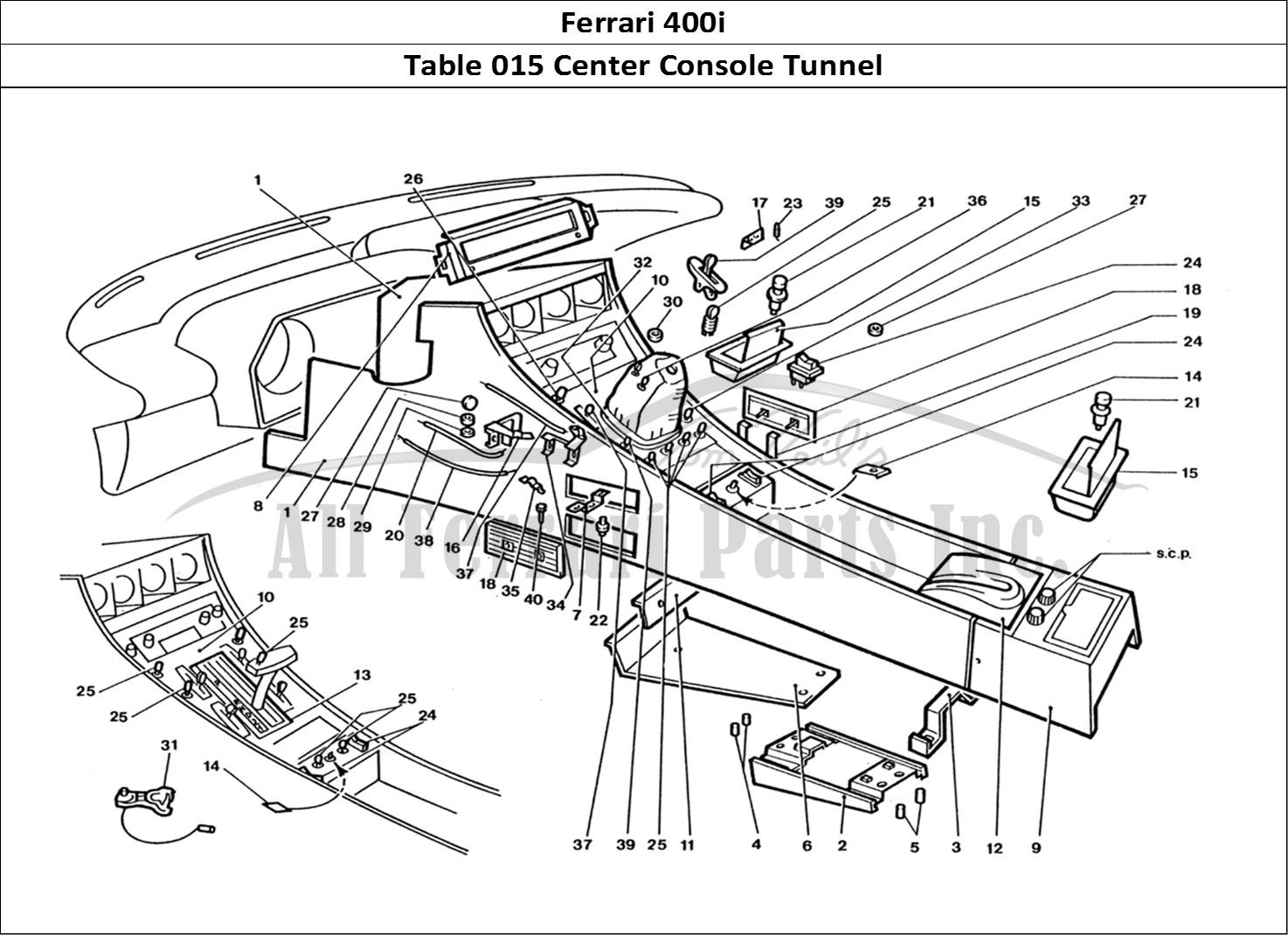 Buy Original Ferrari 400i 015 Center Console Tunnel