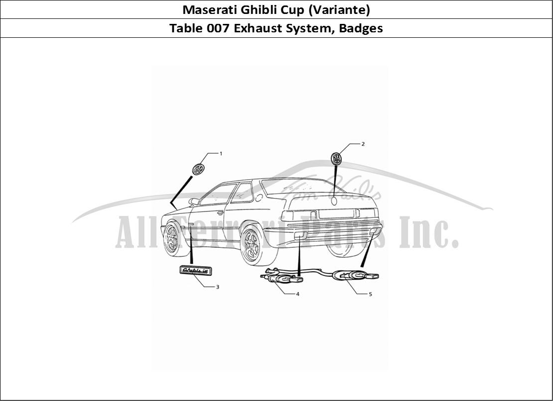 Buy original Maserati Ghibli Cup (Variante) 007 Exhaust