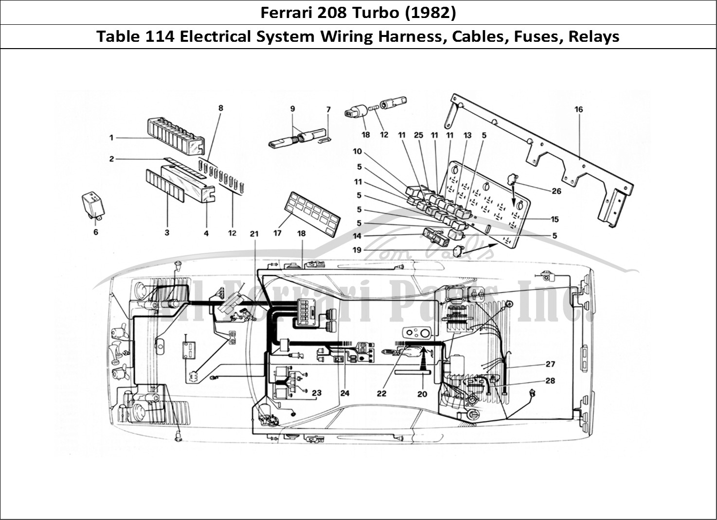 Buy original Ferrari 208 Turbo (1982) 114 Electrical