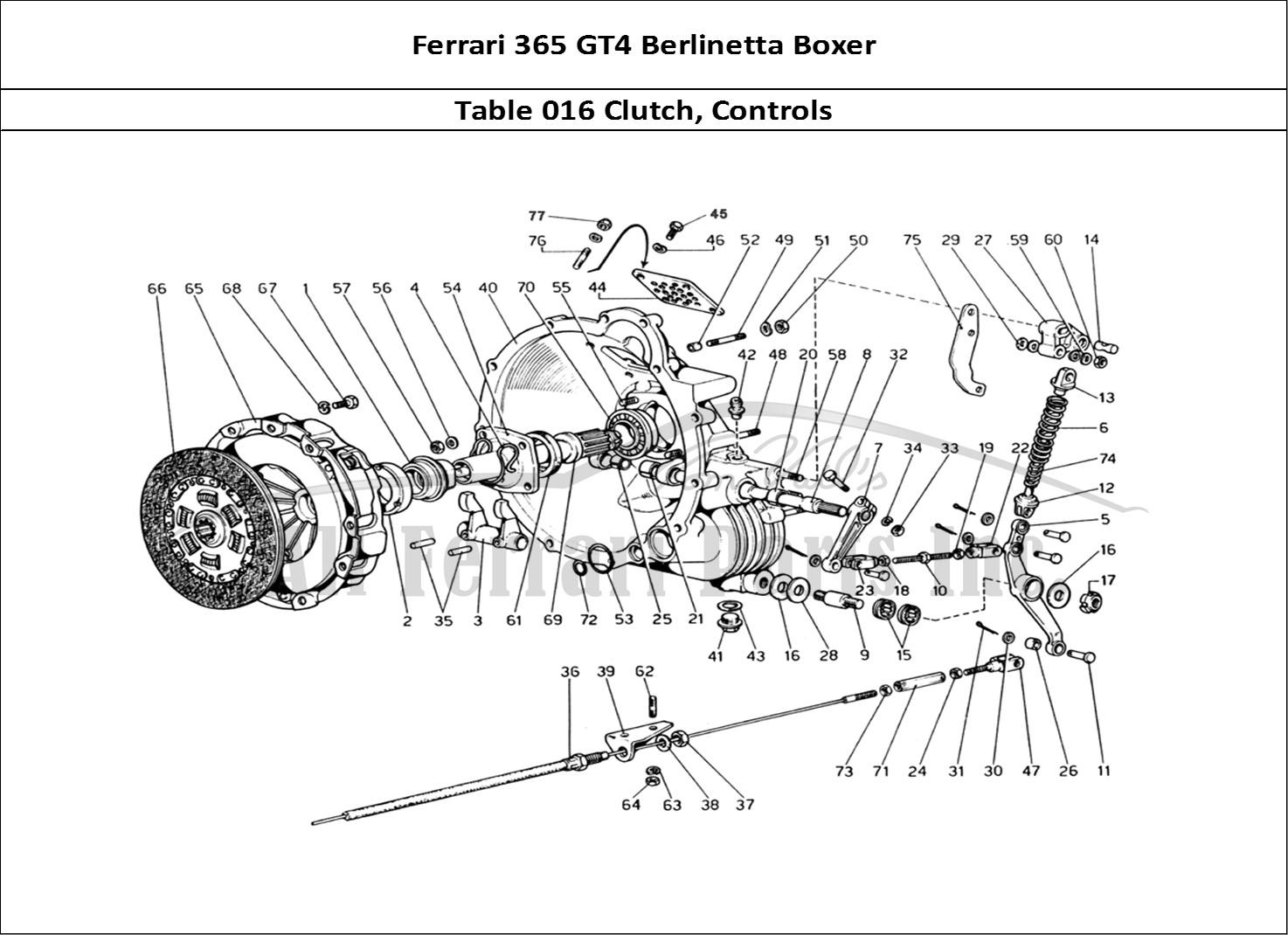 Buy original Ferrari 365 GT4 Berlinetta Boxer 016 Clutch