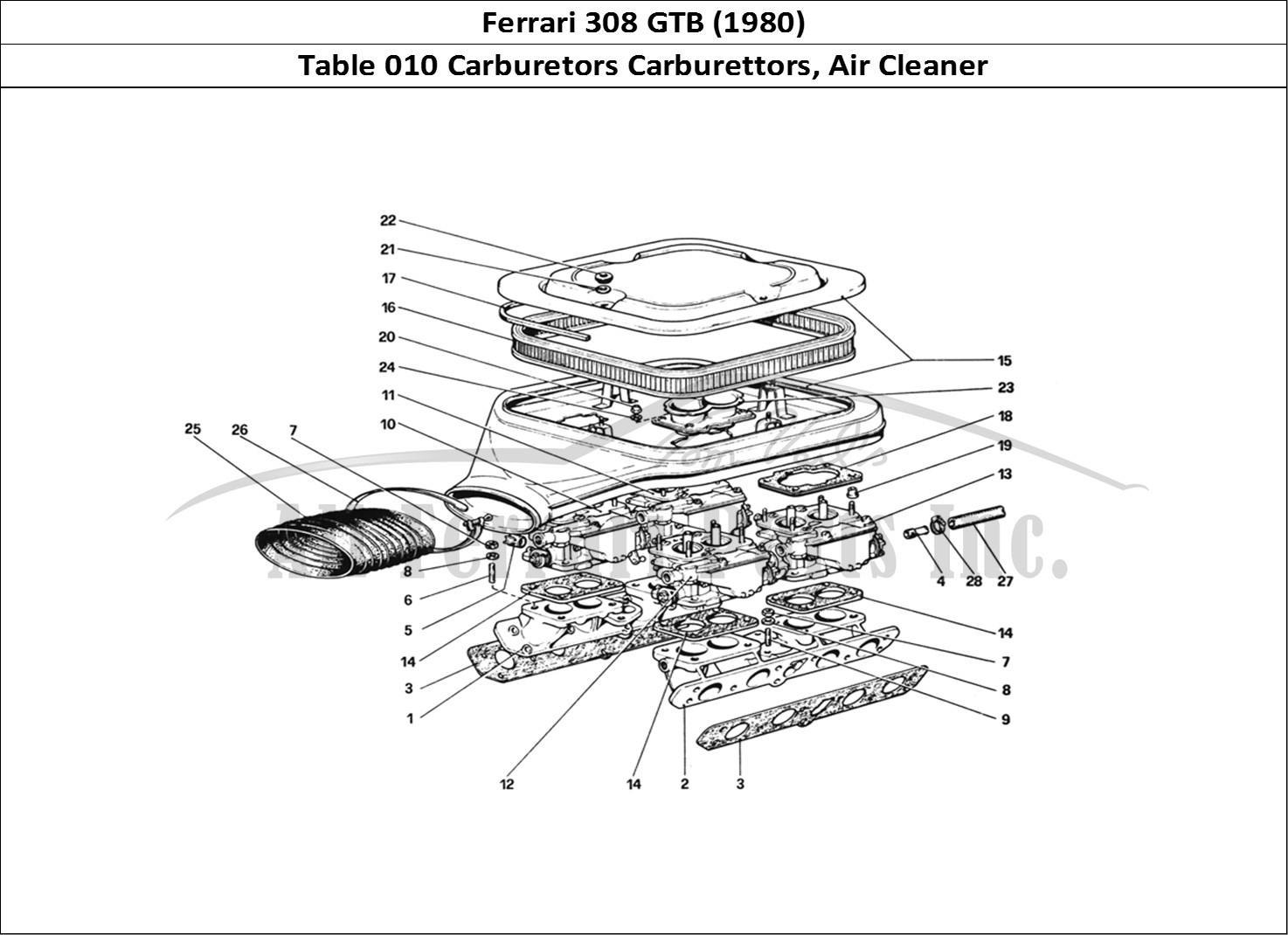 Buy original Ferrari 308 GTB (1980) 010 Carburetors