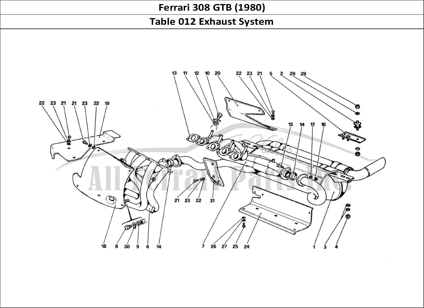 Buy original Ferrari 308 GTB (1980) 012 Exhaust System