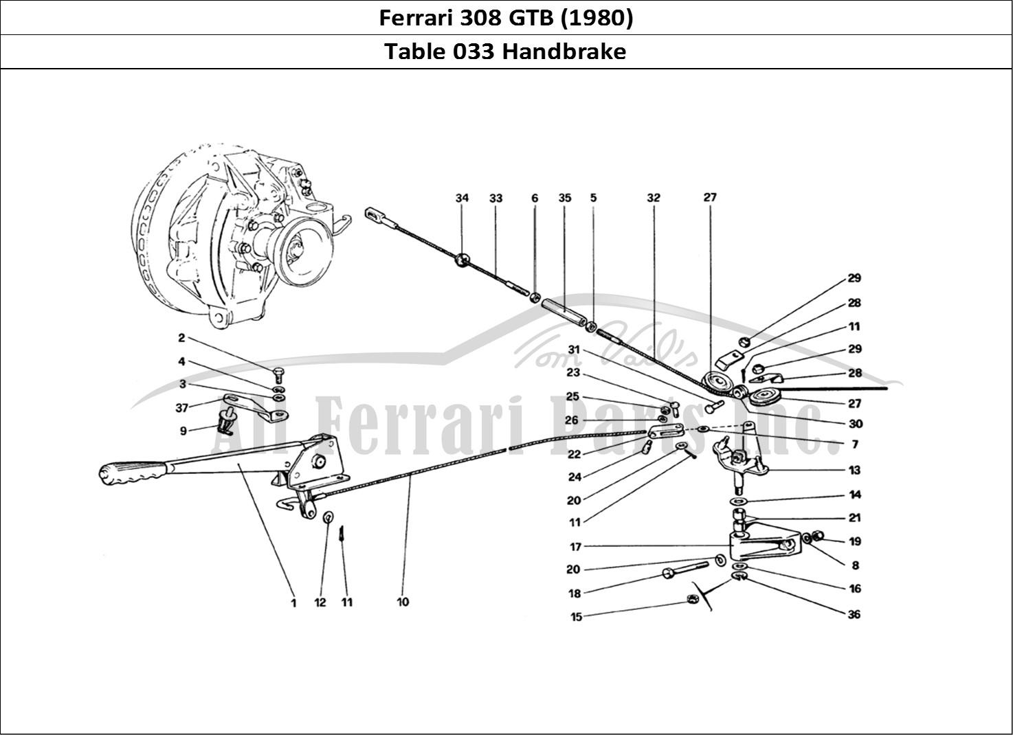 Buy original Ferrari 308 GTB (1980) 033 Handbrake Ferrari