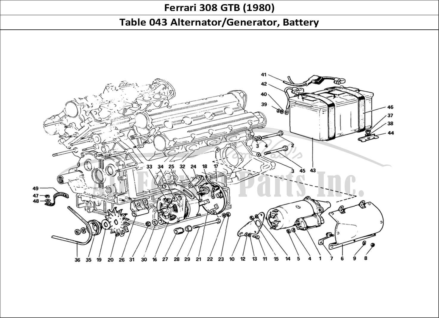 Buy original Ferrari 308 GTB (1980) 043 Alternator
