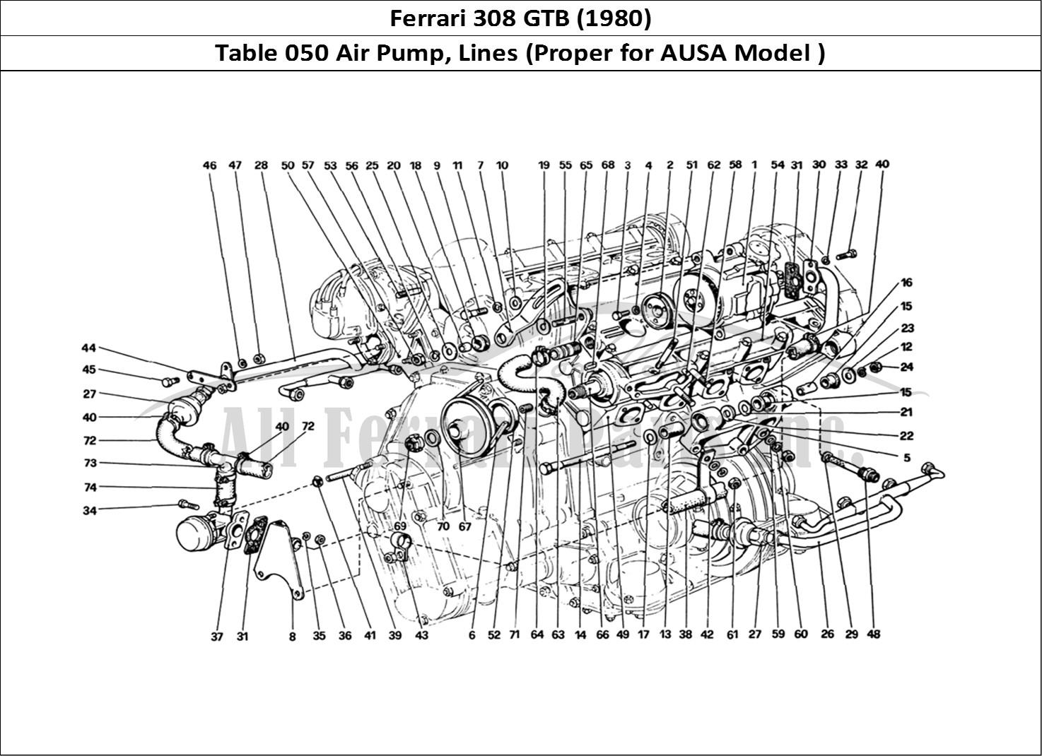 Buy original Ferrari 308 GTB (1980) 050 Air Pump, Lines