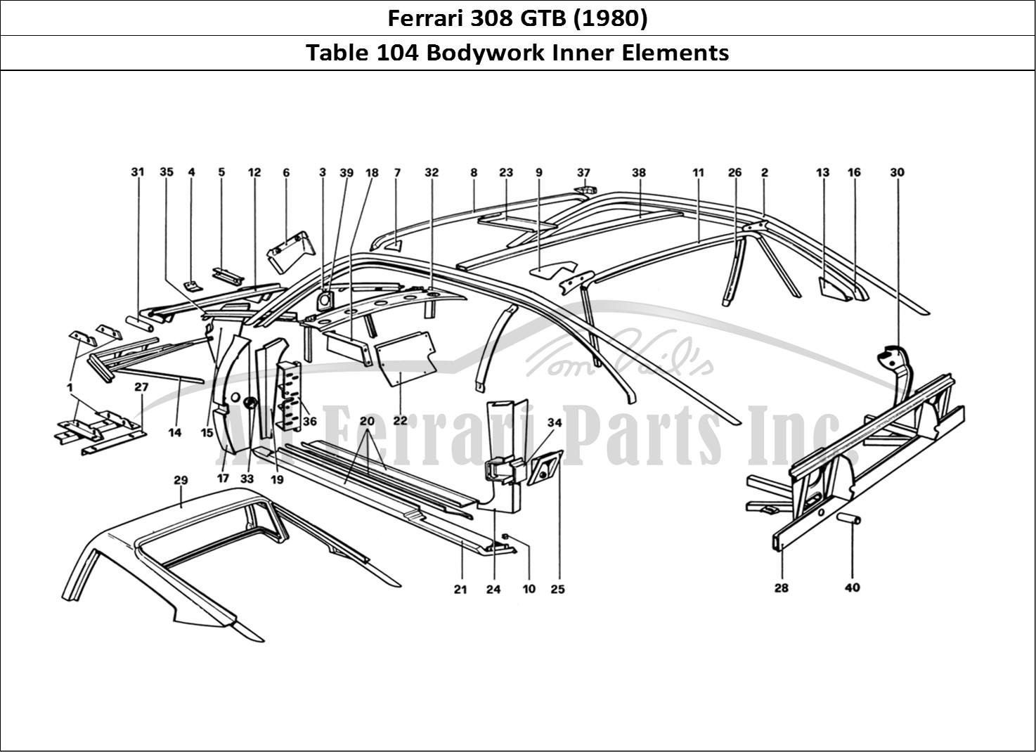 Buy original Ferrari 308 GTB (1980) 104 Bodywork Inner