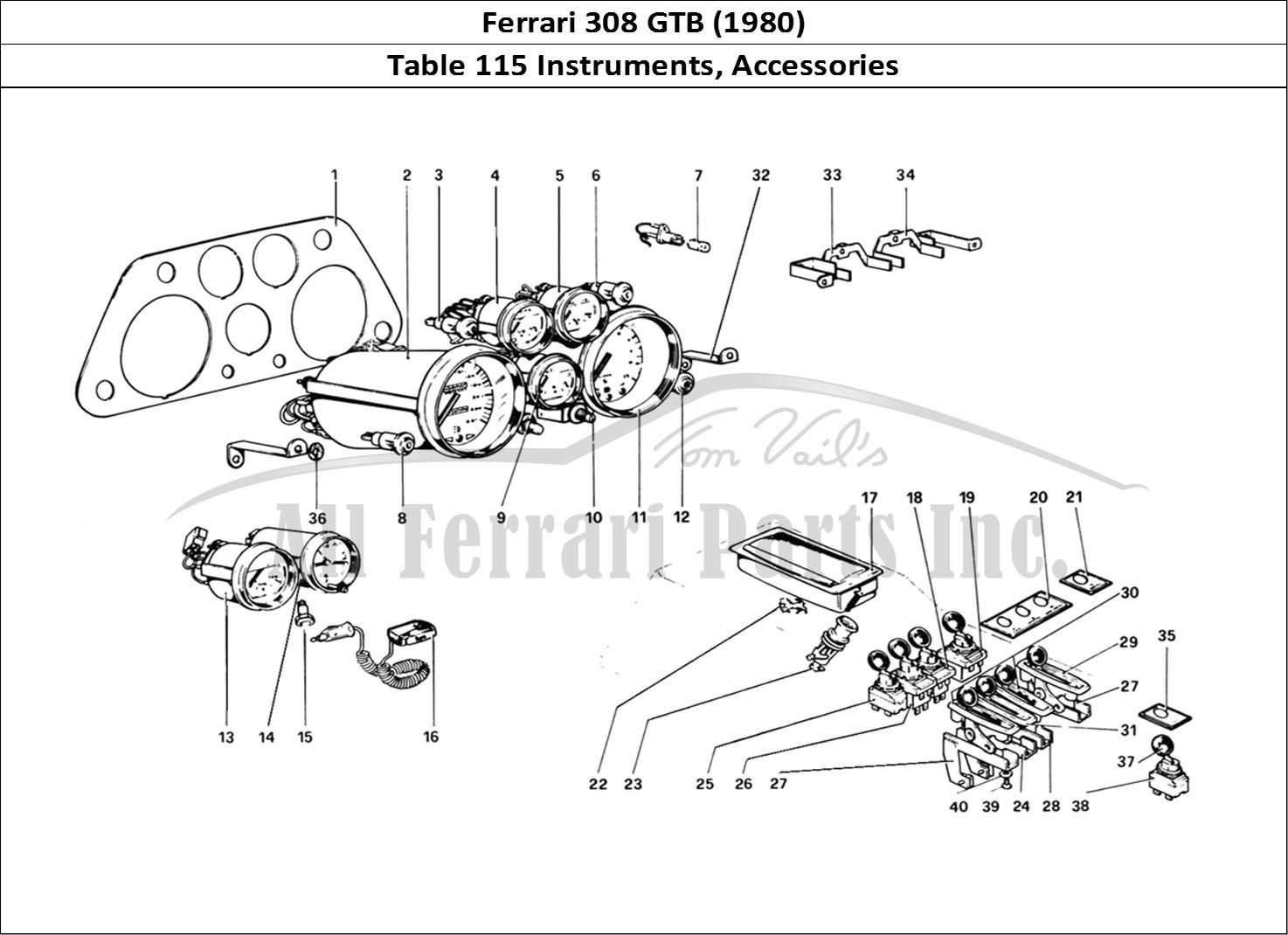 Buy original Ferrari 308 GTB (1980) 115 Instruments