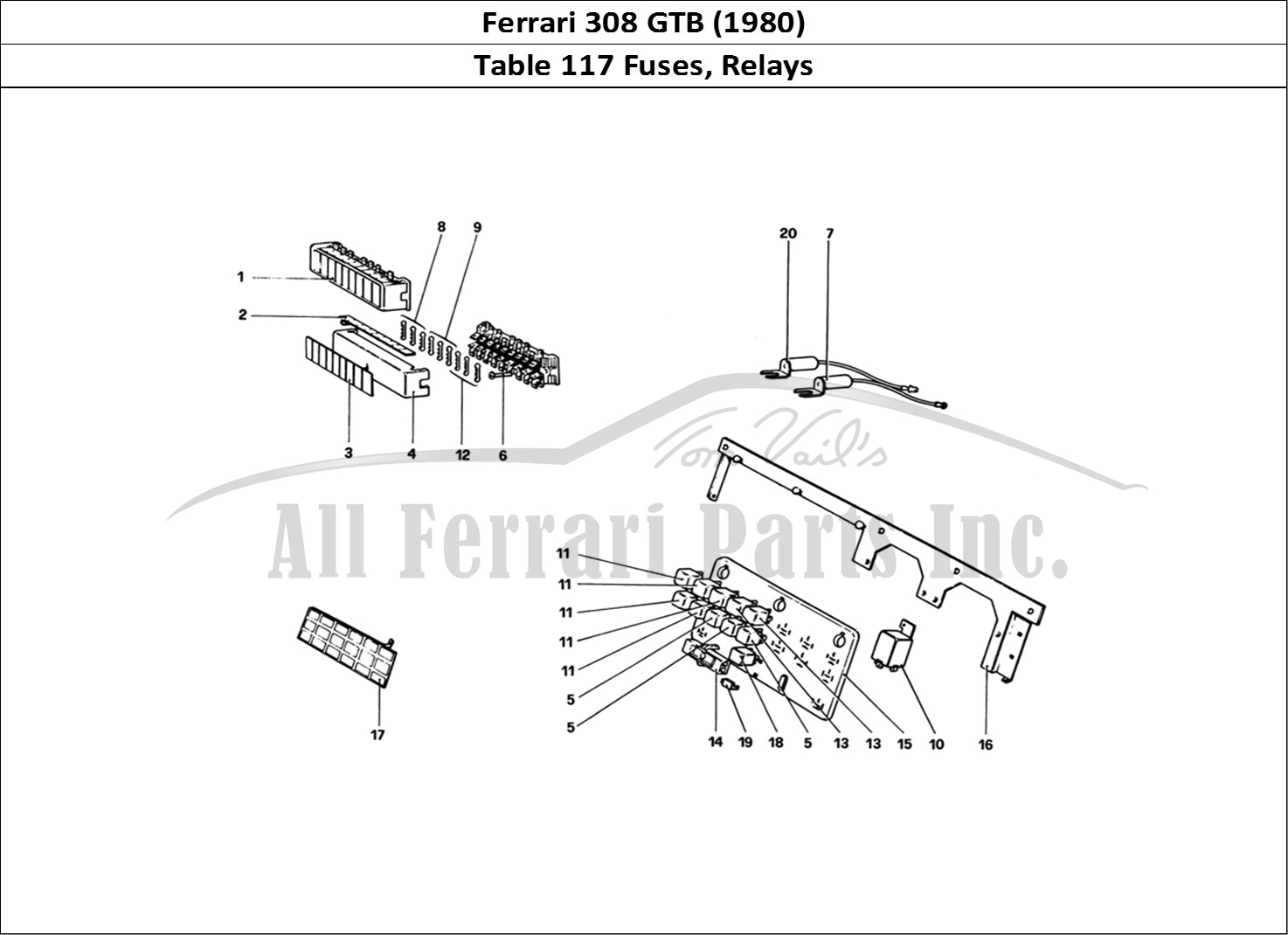 Buy original Ferrari 308 GTB (1980) 117 Fuses, Relays