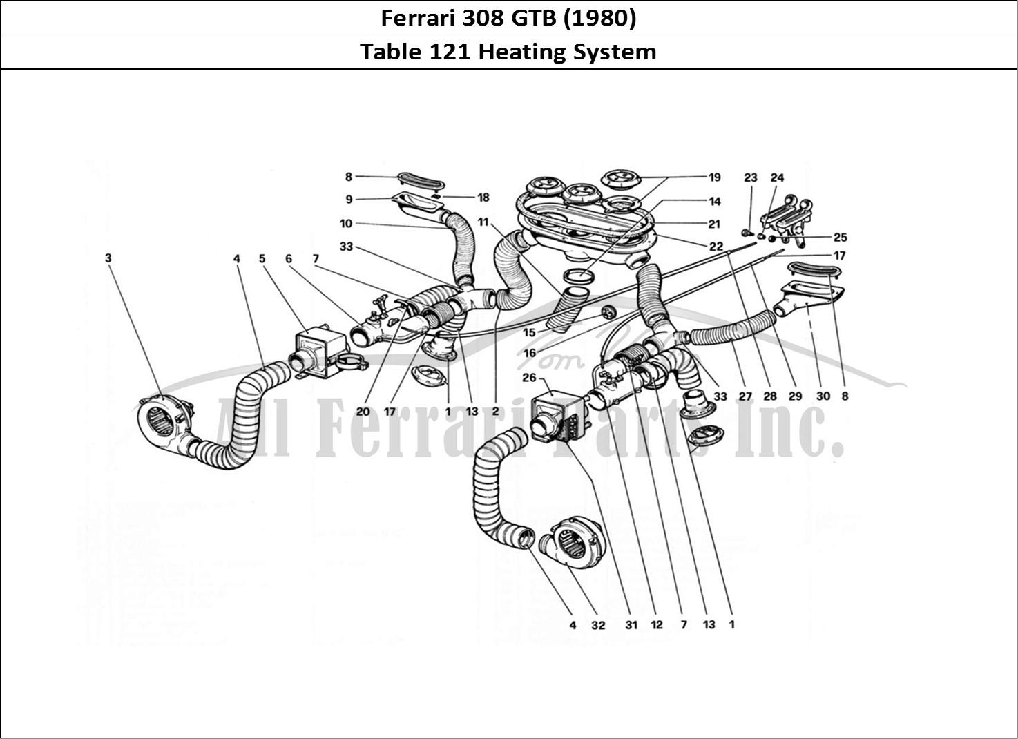 Buy original Ferrari 308 GTB (1980) 121 Heating System